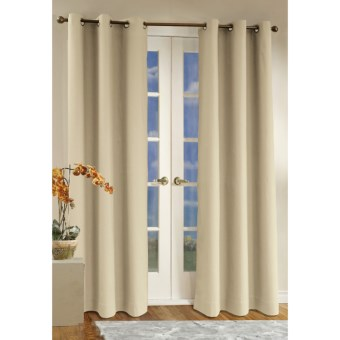 "Thermalogic Weathermate Curtains - 80x 72,"" Grommet-Top, Insulated in Natural"