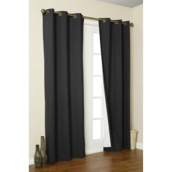"Thermalogic Weathermate Curtains - 80x54"", Grommet-Top, Insulated in Black"