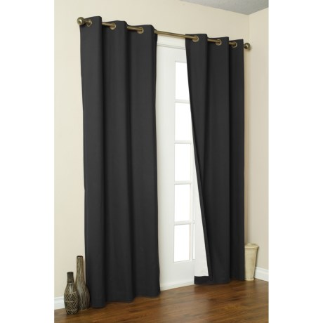 """Thermalogic Weathermate Curtains - 80x54"""", Grommet-Top, Insulated in Black"""