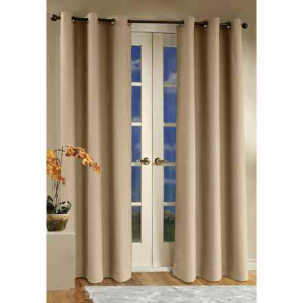 "Thermalogic Weathermate Curtains - 80x54"", Grommet-Top, Insulated in Khaki - Overstock"