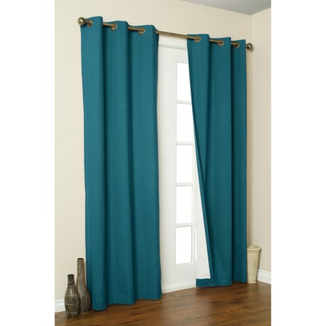 """Thermalogic Weathermate Curtains - 80x54"""", Grommet-Top, Insulated in Teal"""