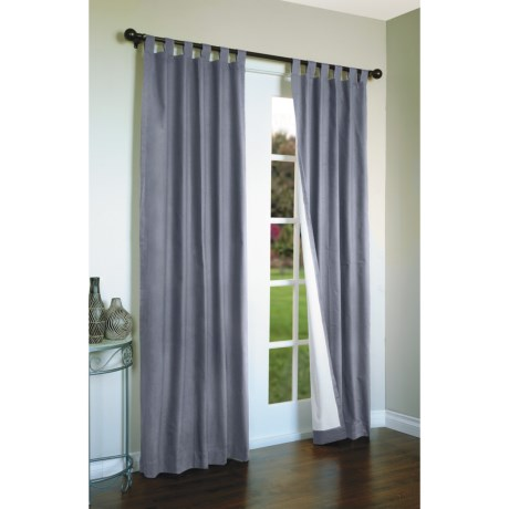 "Thermalogic Weathermate Curtains - 80x54"", Tab-Top, Insulated in Blue"