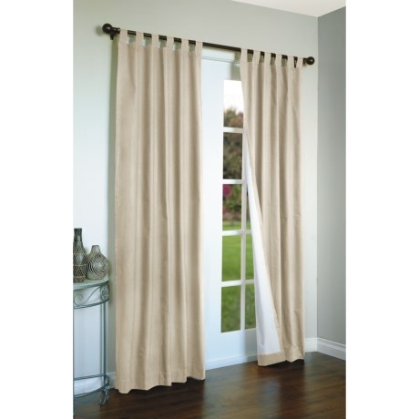 "Thermalogic Weathermate Curtains - 80x54"", Tab-Top, Insulated in Natural"