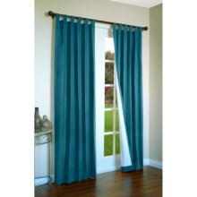 """Thermalogic Weathermate Curtains - 80x54"""", Tab-Top, Insulated in Teal - Overstock"""