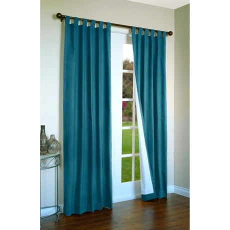 """Thermalogic Weathermate Curtains - 80x54"""", Tab-Top, Insulated in Teal"""