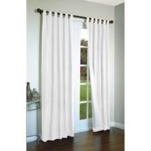 "Thermalogic Weathermate Curtains - 80x54"", Tab-Top, Insulated in White - Overstock"