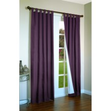 """Thermalogic Weathermate Curtains - 80x63"""", Tab-Top, Insulated in Aubergine - Overstock"""