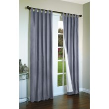 "Thermalogic Weathermate Curtains - 80x63"", Tab-Top, Insulated in Blue - Overstock"
