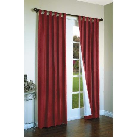 """Thermalogic Weathermate Curtains - 80x63"""", Tab-Top, Insulated in Burgundy"""