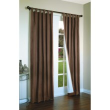 "Thermalogic Weathermate Curtains - 80x63"", Tab-Top, Insulated in Chocolate - Overstock"