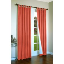 "Thermalogic Weathermate Curtains - 80x63"", Tab-Top, Insulated in Coral - Overstock"