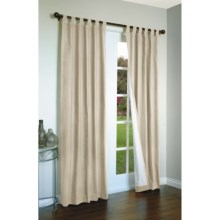 "Thermalogic Weathermate Curtains - 80x63"", Tab-Top, Insulated in Natural - Overstock"