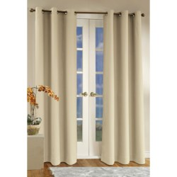 """Thermalogic Weathermate Curtains - 80x72"""", Grommet-Top, Insulated in Natural"""