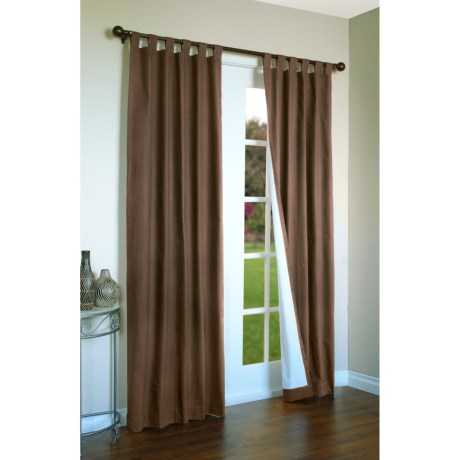 "Thermalogic Weathermate Curtains - 80x72"", Tab-Top, Insulated in Chocolate"
