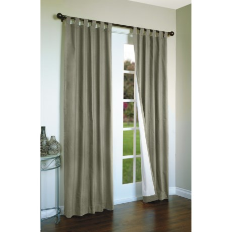 """Thermalogic Weathermate Curtains - 80x72"""", Tab-Top, Insulated in Natural"""