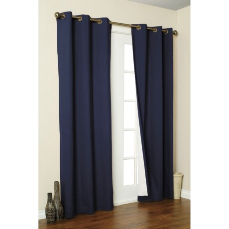 """Thermalogic Weathermate Curtains - 80x84"""", Grommet-Top, Insulated"""