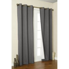 "Thermalogic Weathermate Curtains - 80x84"", Grommet-Top, Insulated in Pewter - Overstock"