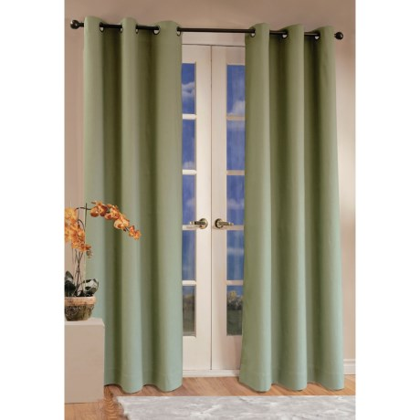 "Thermalogic Weathermate Curtains - 80x84"", Grommet-Top, Insulated in Sage"