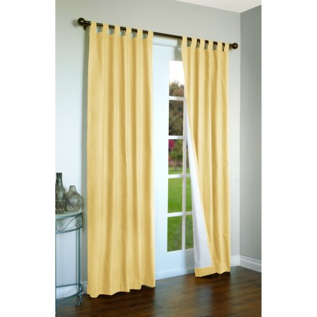 """Thermalogic Weathermate Curtains - 80x84"""", Tab-Top, Insulated in Yellow"""
