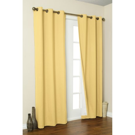 """Thermalogic Weathermate Curtains - 80x95"""" Grommet-Top, Insulated in Yellow"""