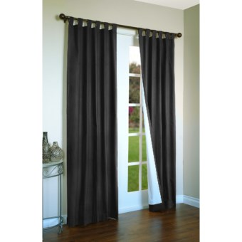 "Thermalogic Weathermate Curtains - 80x95"", Tab-Top, Insulated in Black"
