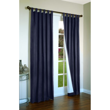 "Thermalogic Weathermate Curtains - 80x95"", Tab-Top, Insulated in Navy"