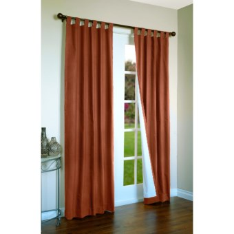 "Thermalogic Weathermate Curtains - 80x95"", Tab-Top, Insulated in Terracotta"