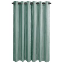 "Thermalogic Weathermate Laundry Stripe Curtains - 72"", Insulated, Grommet-Top in Blue - Closeouts"