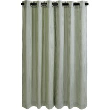 "Thermalogic Weathermate Laundry Stripe Curtains - 84"", Insulated, Grommet-Top in Sage - Closeouts"