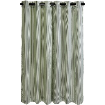 "Thermalogic Weathermate Laundry Stripe Curtains - 84"", Insulated, Grommet-Top in Sage"
