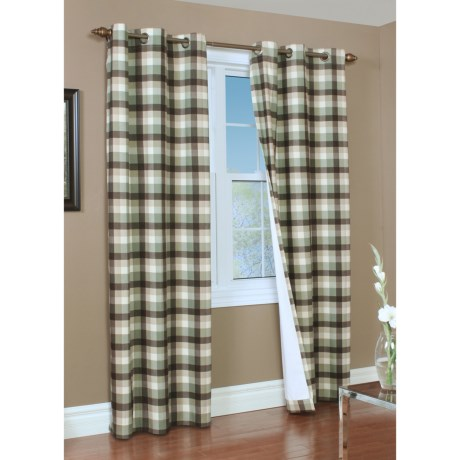"Thermalogic Weathermate Mansfield Curtains - 80x72"", Grommet-Top, Insulated in Sage"