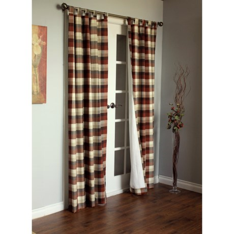 "Thermalogic Weathermate Mansfield Curtains - 80x84"", Tab-Top, Insulated in Terracotta"