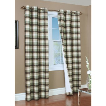 "Thermalogic Weathermate Mansfield Curtains - 84"", Grommet Top, Insulated in Sage"