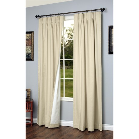 """Thermalogic Weathermate Pinch Pleat Curtains - 95"""", Insulated in Natural"""