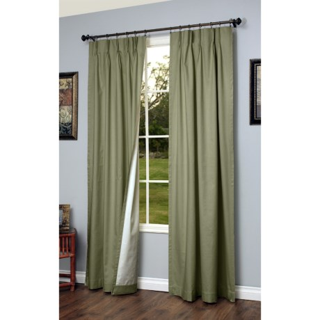 """Thermalogic Weathermate Pinch Pleat Curtains - 95"""", Insulated in Sage"""