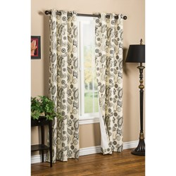 "Thermalogic Weathermate Plymouth Paisley Curtains - 80x72"", Grommet-Top, Insulated in Black/Natural"
