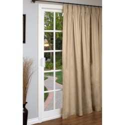 "Thermalogic Weathermate Single Panel Curtain - 96x84"", Pinch Pleat, Insulated in Khaki"