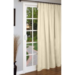 "Thermalogic Weathermate Single Panel Curtain - 96x84"", Pinch Pleat, Insulated in Natural"