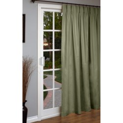 """Thermalogic Weathermate Single Panel Curtain - 96x84"""", Pinch Pleat, Insulated in Natural"""