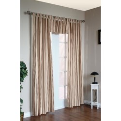 """Thermalogic Weathermate Stripe Curtains - 80x72"""", Tab-Top, Insulated in Terracotta"""