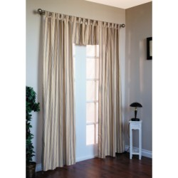 "Thermalogic Weathermate Stripe Curtains - 80x84"", Tab-Top, Insulated in Terracotta"