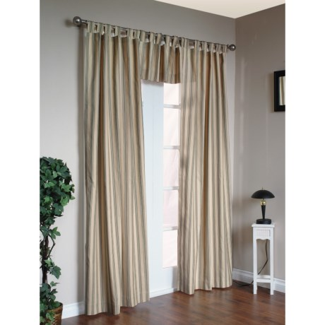 "Thermalogic Weathermate Stripe Curtains - 80x84"", Tab-Top, Insulated in Sage"