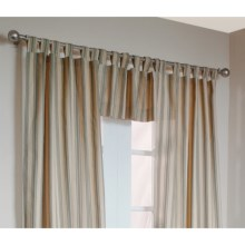 "Thermalogic Weathermate Stripe Valance - 40x15,"" Tab-Top, Insulated in Sage - Overstock"