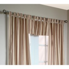 "Thermalogic Weathermate Stripe Valance - 40x15,"" Tab-Top, Insulated in Terracotta - Overstock"