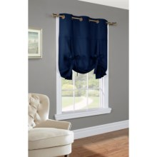 "Thermalogic Weathermate Tie-Up Curtain - 40x63"", Grommet Top, Insulated in Navy - Overstock"