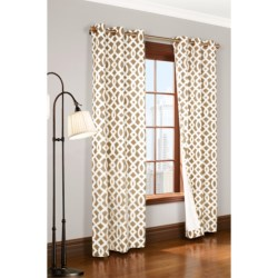 "Thermalogic Weathermate Trellis Curtains - 80x63"", Grommet-Top, Insulated in Khaki"