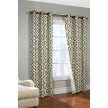 """Thermalogic Weathermate Trellis Curtains - 80x84"""", Grommet-Top, Insulated in Sage - Overstock"""