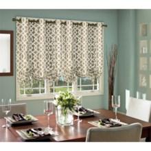 "Thermalogic Weathermate Trellis Tie-Up Curtain - 40x63"", Grommet-Top in Khaki - Overstock"