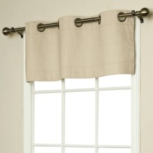 "Thermalogic Weathermate Valance - 40x15,"" Grommet-Top, Insulated in Natural - Overstock"