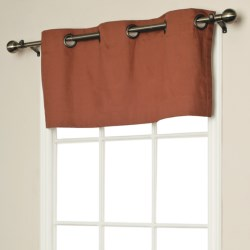 "Thermalogic Weathermate Valance - 40x15,"" Grommet-Top, Insulated in Chocolate"